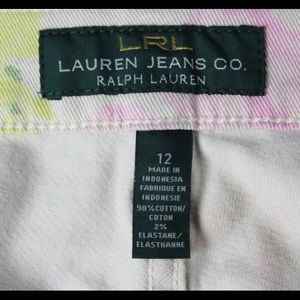 Ralph Lauren Jeans - Ralph Lauren Cream Jeans with Flowers